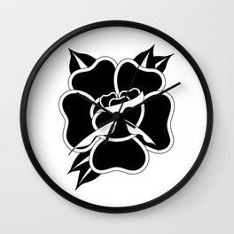Black Rose I Wall Clock