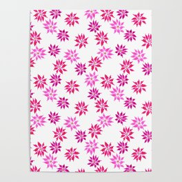 Bright Winter Flowers Poster