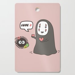 No-Face in Love of SootBall Cutting Board