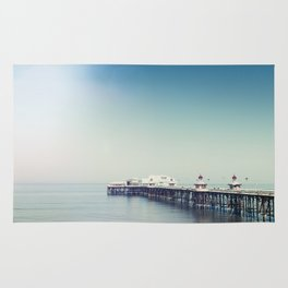 Blackpool pier and coast on a sunny July morning. Rug