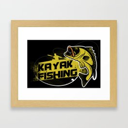 Kayak Fishing Framed Art Print