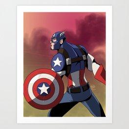 The Captain of America Art Print
