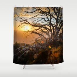 Mountain Sunset Shower Curtain