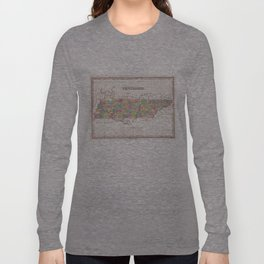 Vintage Map of Tennessee (1827) Long Sleeve T-shirt