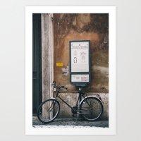 Rome Bicycle Art Print