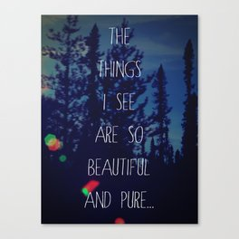 The things I see Canvas Print