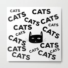 For the love of cats Metal Print