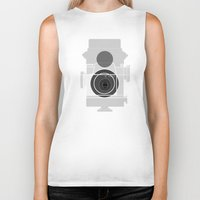 history Biker Tanks featuring Camera History by BlancaJP