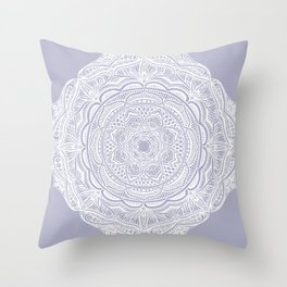 Dedication to Lucy (purple) Throw Pillow