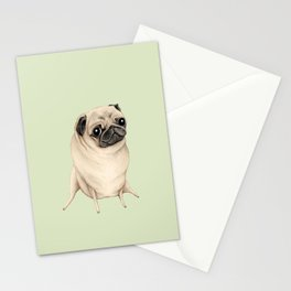 Sweet Fawn Pug Stationery Cards