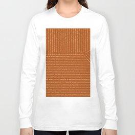 Lines (Rust) Langarmshirt