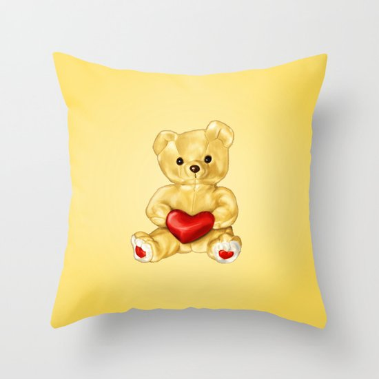 Teddy Bear Hypnotist Throw Pillow