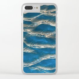 Aqua - blue abstract Clear iPhone Case