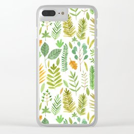 Leaves Large Clear iPhone Case