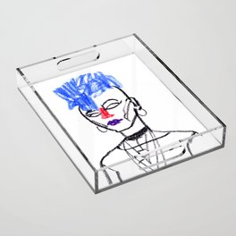 Mohawk girl Acrylic Tray