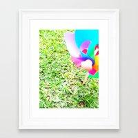 plain Framed Art Prints featuring Plain Sight by Rachel