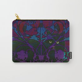 Art Nouveau Visible Cat Carry-All Pouch