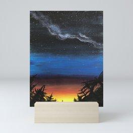looking into the future Mini Art Print
