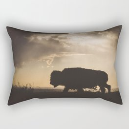 Bison in the Storm - Badlands National Park Rectangular Pillow