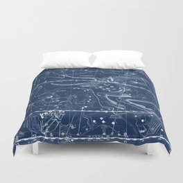Taurus sky star map Duvet Cover