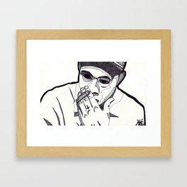 WOLF. (Blank Background) Framed Art Print