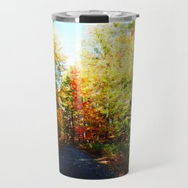 Into the Fall Forest Travel Mug