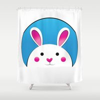 Chubby Bunny Shower Curtain