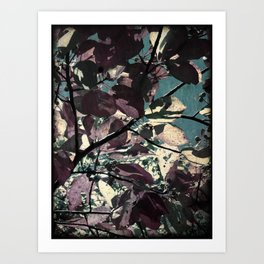 Cool Fall Leaves Art Print