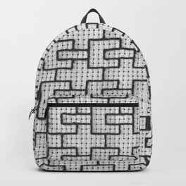 Cage window grille pattern Backpack