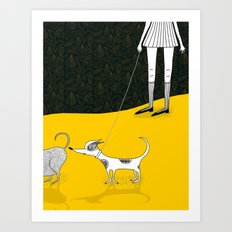 Snyder Goes For Walkies Art Print