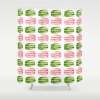 macarons Shower Curtains featuring Macarons by Sarah Moore