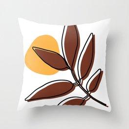 Sina leaf Throw Pillow
