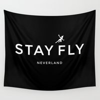 neverland Wall Tapestries featuring Stay Fly - Neverland by stella nova