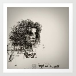 involuntary dilation of the iris Art Print