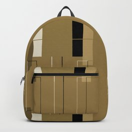 White Hairline Brown Squares Backpack