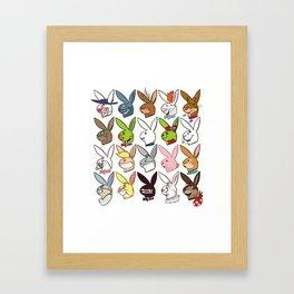 Famous Bunnies Framed Art Print