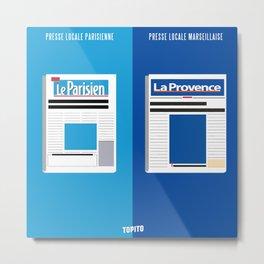 Le Parisen VS La Provence (Paris VS Marseille) Metal Print