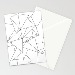 Abstract Origami Stationery Cards