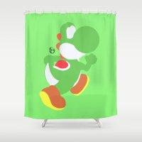 yoshi Shower Curtains featuring Yoshi(Smash) by ejgomez