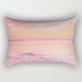 Pink sunset Rectangular Pillow