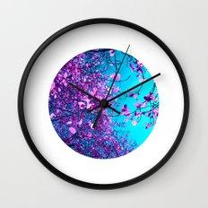 purple tree XXIII Wall Clock