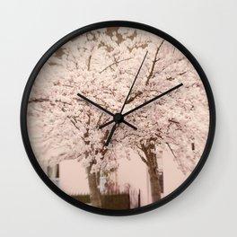 Village in Blossom Wall Clock