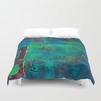 oasis Duvet Covers featuring Oasis by Cifertherhyme