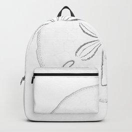Sand Dollar Blessings - Black on White Pointilism Art Backpack