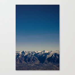 Blue Skies Mountains Canvas Print
