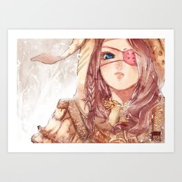 Rust and Pink Art Print