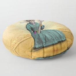 Tessy Tigress Shreds a Solo . . . Grrrrrr! Floor Pillow