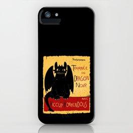 Dragon noir iPhone Case