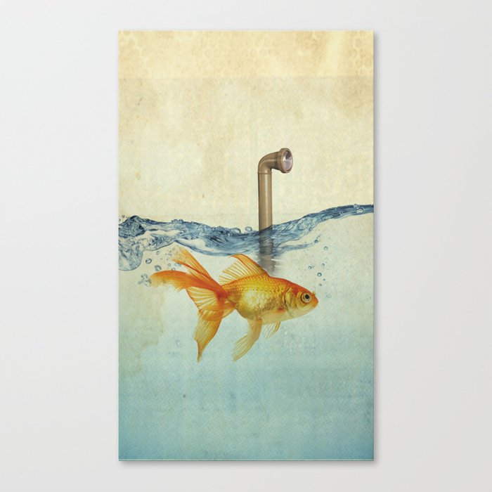 periscope goldfish Canvas Print