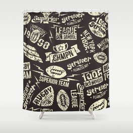 Sport rugby emblems pattern Shower Curtain